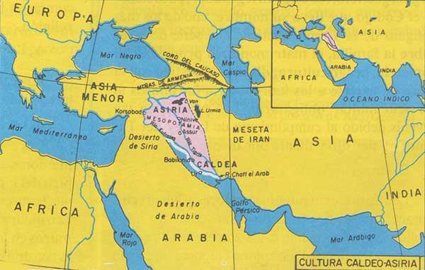 mapa caldeo asiria mesopotamia