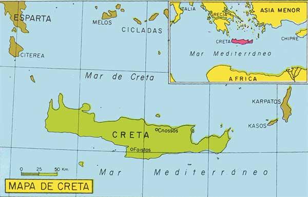 Mapa Civilizacion Minoica Cretense