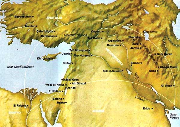 mapa creciente fertil
