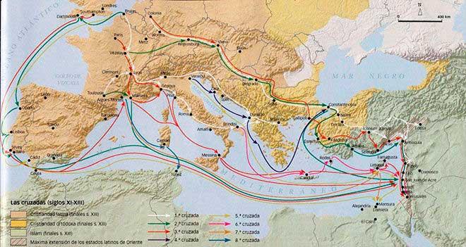 mapa cruzadas