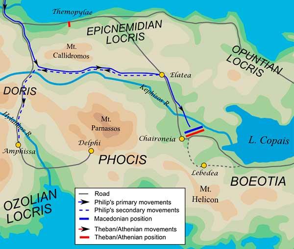 mapa cuarta guerra sagrada