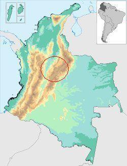 mapa cultura chibcha