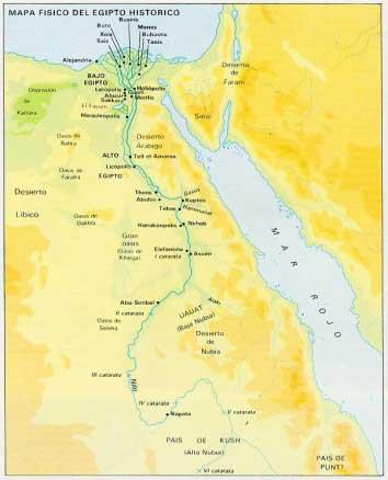 mapa egipto predinastico pretinita