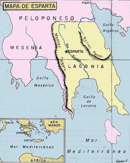 mapa esparta
