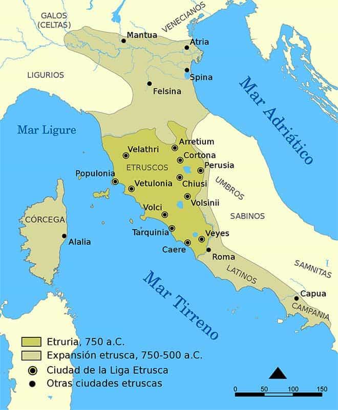 Los Etruscos  Historia Universal