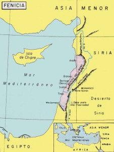 Mapa Cultura Fenicia