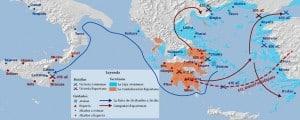mapa guerra peloponeso