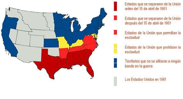 mapa guerra secesion