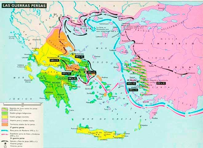 mapa guerras medicas