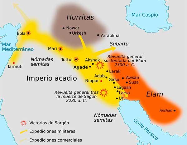 Mapa del Imperio Acadio
