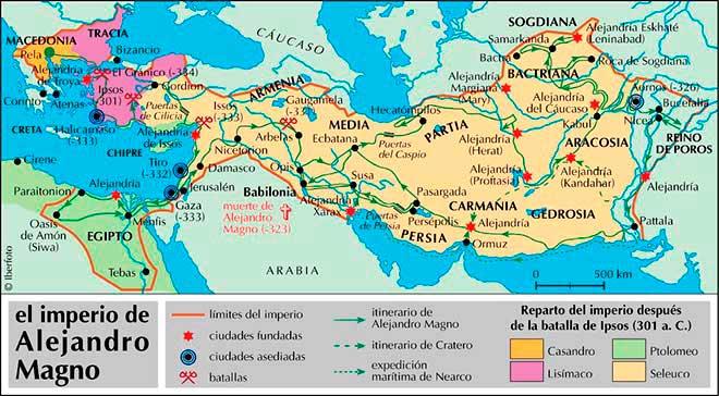 mapa imperio alejandro