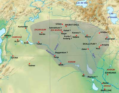 mapa imperio asirio Shamshiadad I