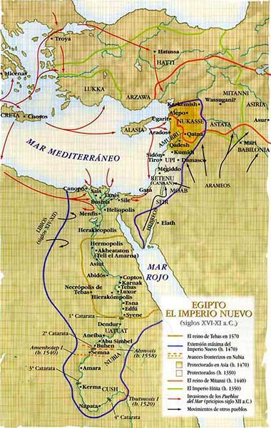 mapa imperio nuevo egipto