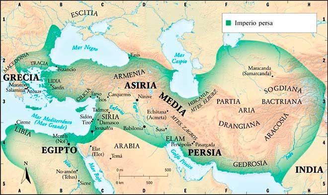 mapa imperio persa