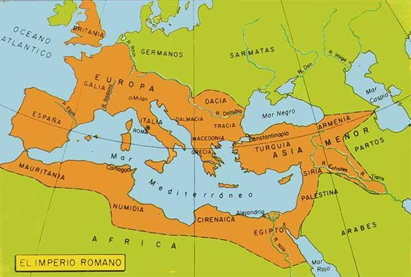 Resultado de imagen de imperio romano mapa