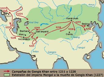 mapa imperio gengis khan