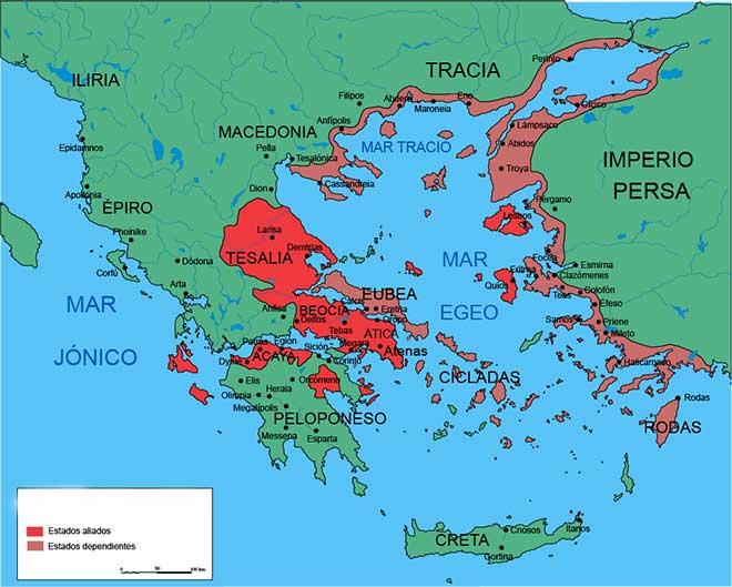 mapa liga de delos