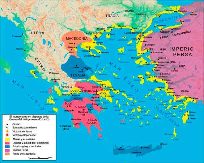 mapa liga del peloponeso