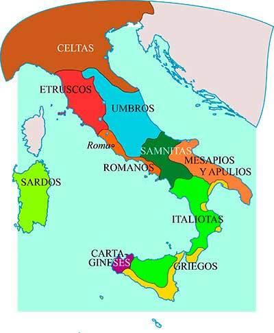 mapa samnitas roma