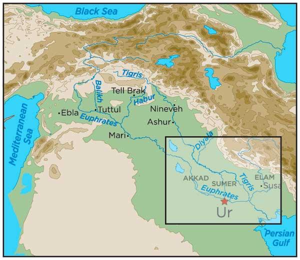 Mapa de Ur