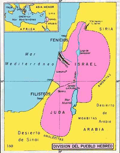 mapa cultura hebrea