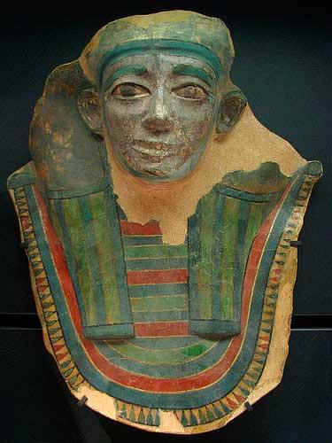 mascara funeraria de la region Mirgissa