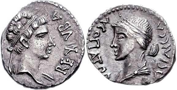 moneda cleopatra selene