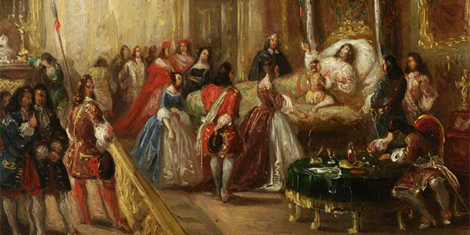Muerte de Luis XIV de Francia