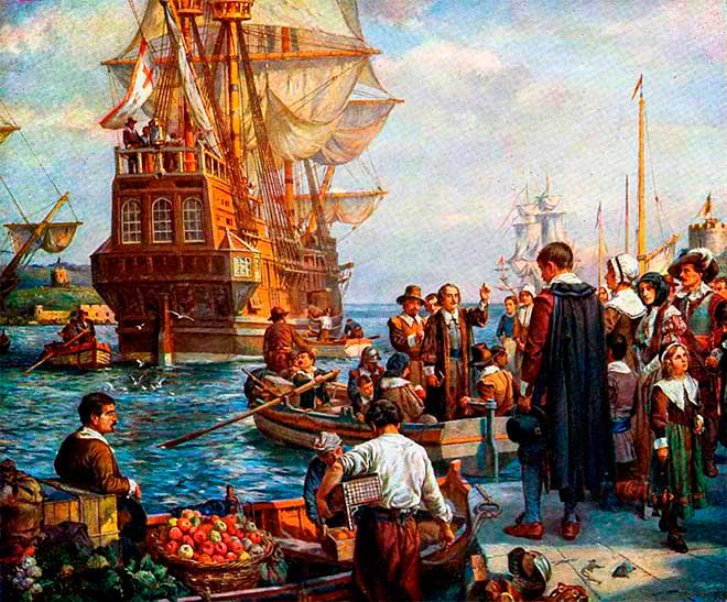 padres peregrinos colonizacion anglosajona
