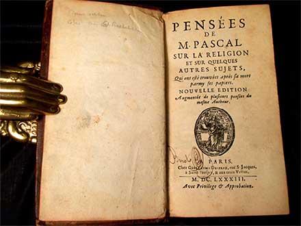 Libro Pensees de Pascal