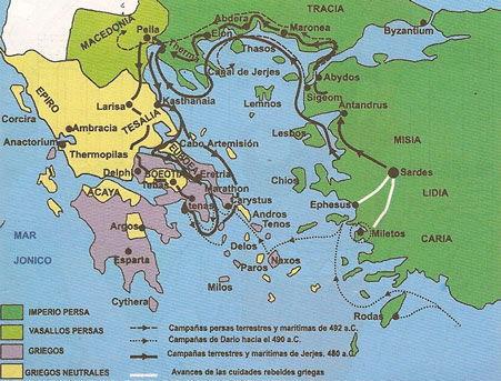 mapa primera guerra medica