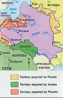 primera reparticion polonia