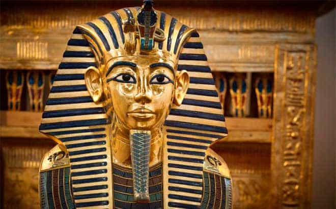 Rostro de la tumba de Tutankamón
